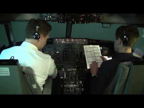 Flying Boeing 737-CL: full flight cockpit video (part 3) - Baltic Aviation Academy