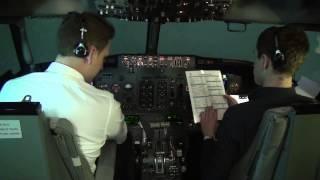 Flying Boeing 737-CL: full flight cockpit video (part 3) - Baltic Aviation Academy
