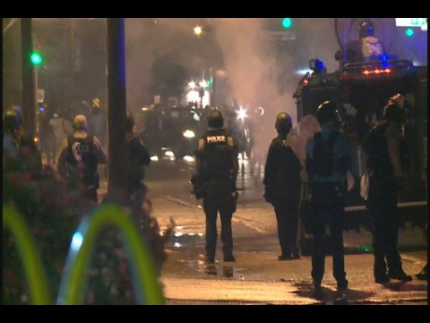 Police Use Tear Gas, Arrest 7 As Protesters Ignore Ferguson, MO. Curfew (8/17/2014)
