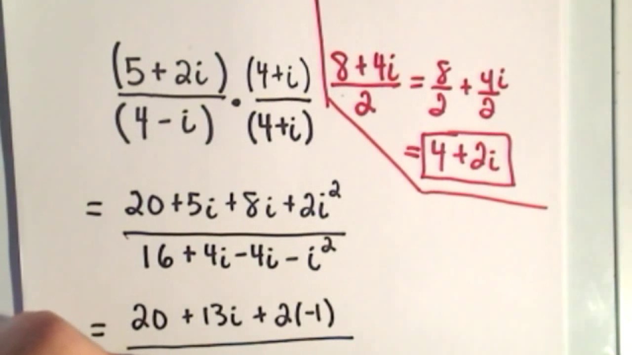Complex Numbers - Multiplying and Dividing Throughout Multiplying Complex Numbers Worksheet
