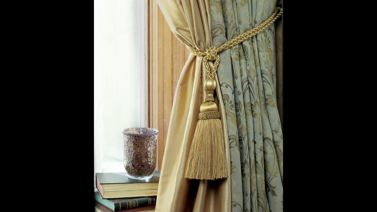 How to tie a Curtain TieBack having Tassels  YouTube