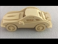 3D Wood Craft Construction Kit DIY, How to make a wooden car P-911