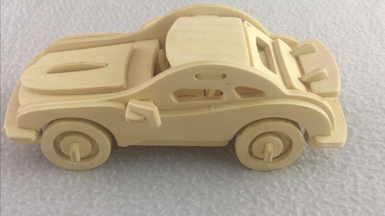 Diy Miniature Car P 911 3d Wood Craft Construction Kit Youtube