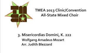 tmea all state mixed choir 2013 misericordias domini