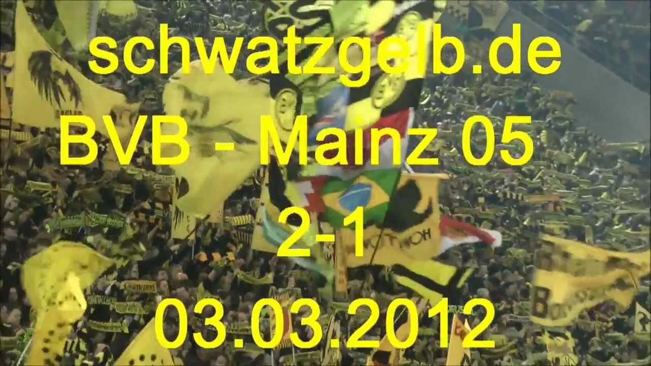 BVB - Mainz 2-1 03.03.2012 Stimmung Fans Borussia Dortmund - Mainz 05