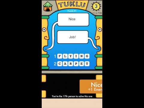 Tuklu™ – Two Clues, Two Answers, Too Fun (for iOS)