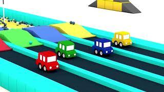 JUMPER karikatür Araba. Çocuklar için - Çocuklar için çizgi film Araba - çocuklar için Çizgi filmler - Videolar