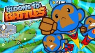 Bloons TD Battles! - EPIC FIRST MULTIPLAYER BATTLES! - Bloons TD Online!