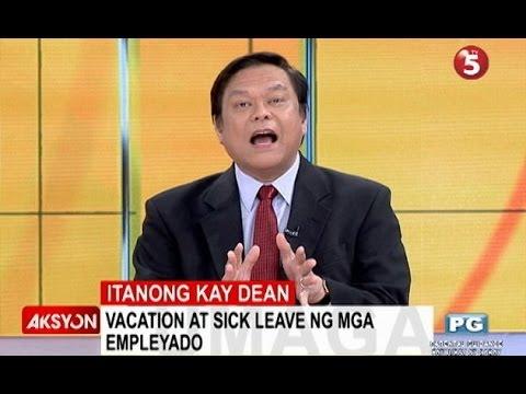 Itanong kay Dean | Vacation, sick leave ng mga empleyado