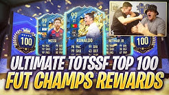 WE PACKED A 99!!! ULTIMATE TOTS TOP 100 FUT CHAMPIONS REWARDS FT. HASHTAG HARRY! FIFA 20