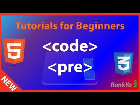 HTML5 Tutorials For Beginners HTML5 Code And HTML Pre Tags