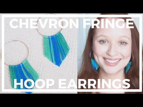 Chevron Fringe Earrings ♥ DIY Jewelry