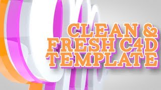 FREE C4D Clean and Fresh Intro template!