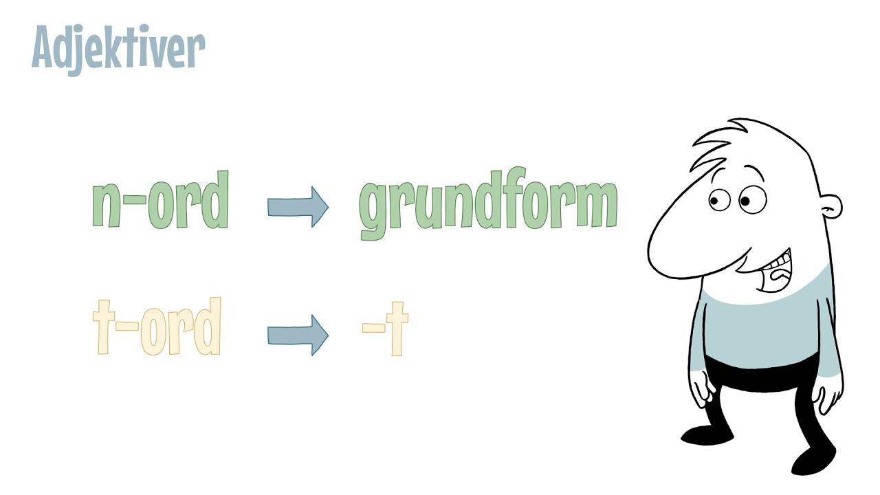 Grammatip.com - DSF - Adjektiver: N ord eller t ord