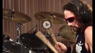 "Cymbal set up: 16"" Nick Menza prototype Hats 20"" Extreme Brilliant ..."