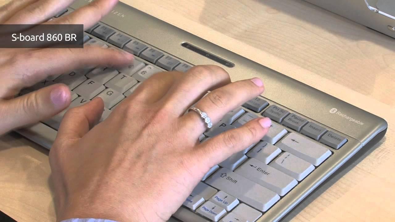 Ergonomisch compact toetsenbord: S-Board 860 Bluetooth ...