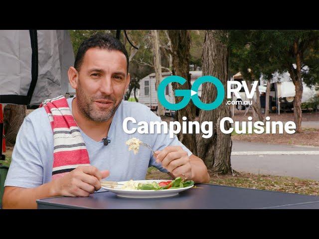 GoRV Camping Cuisine - Pan Fried Chicken with Creamy Corn Sauce
