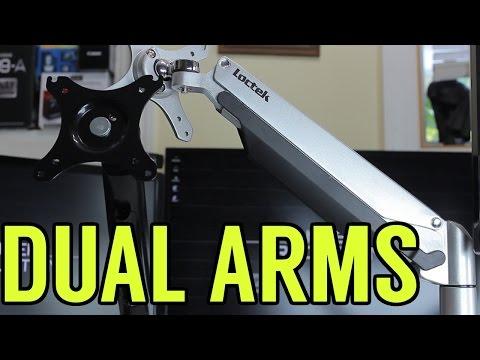 Loctek Dual-Arm Monitor Mount Review - D5D & D7D (First 4K Video)
