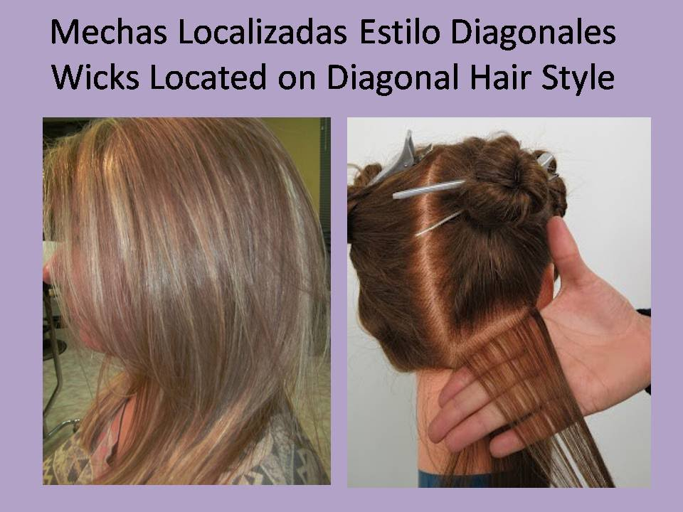 Mechas Localizadas Estilo Diagonales Wicks Located on