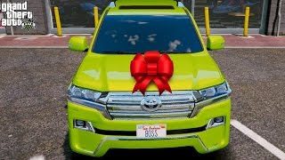 GTA 5 REAL LIFE MOD#127-WEDDING PRESENT FROM PRINCE OF DUBAI(2016 Toyota Land Cruiser VXR)