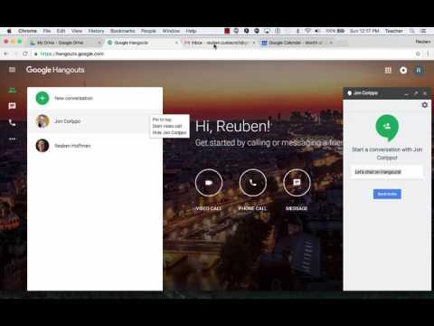 Google Hangouts: Invite Someone