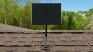 ClearStream FUSION Amplified UHF/VHF HDTV Antenna with Mast - 60 Mile Range - Assembly
