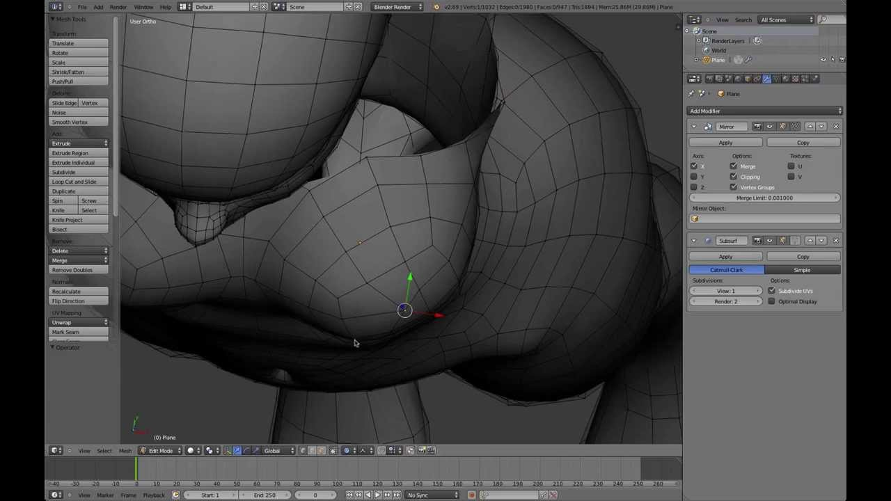 Blender 2 64 Character Modeling Tutorial Part 2 : Part blender anime character modeling tutorial