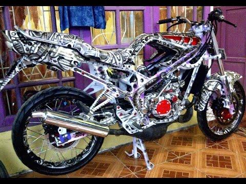 Motor Trend Modifikasi | Video Modifikasi Motor Kawasaki Ninja R 150 Airbrush Terbaru Part 2
