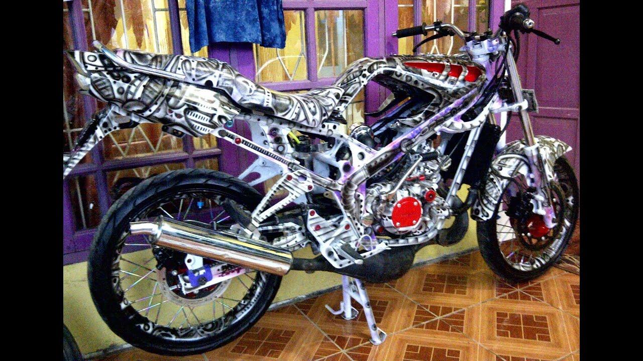91 Modifikasi Motor Kawasaki Ninja Rr Airbrush Terunik Kempoul Motor