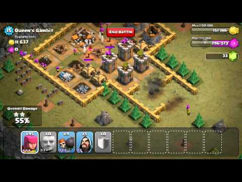 Clash Of Clans: How To Attach Queens Gambit Strategy
