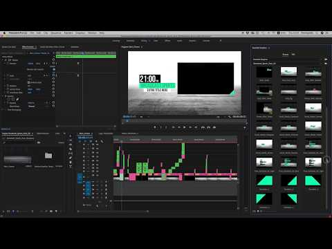Broadcast Sports Pack Premiere | Mogrt Tutorial