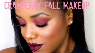 Cranberry Eyes Dark Lips   Fall Makeup Tutorial