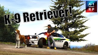 K-9 Searching For Lost Kid!   LEO #55   A-1 RP (FiveM Community)