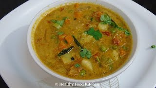 Hotel Saravana Bhavan Style Veg Kurma Recipe - Restaurant Style Veg Kurma Recipe