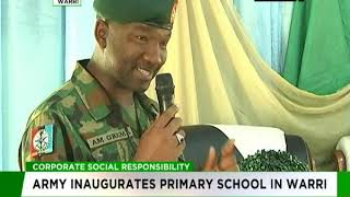 Army inaugurates primary school in Warri