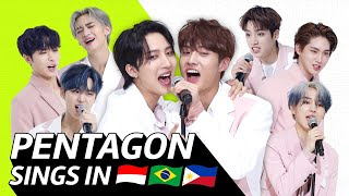 K-POP STARS sing in THREE Languages🎤| INA/POR/TAG | PENTAGON | TRANSONGLATION