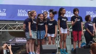 "Matilda the Musical on Broadway sings ""When I Grow Up"" at Broadway in Bryant Park 2016"