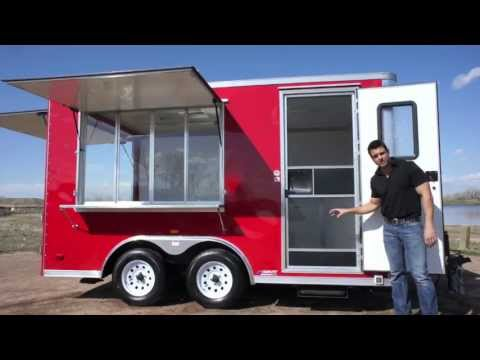 8.5 X 14 Vending Trailer w/ Dutch Rear Doors