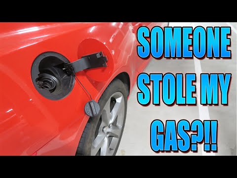 SOMEONE STOLE GAS FROM MY CAR!?!