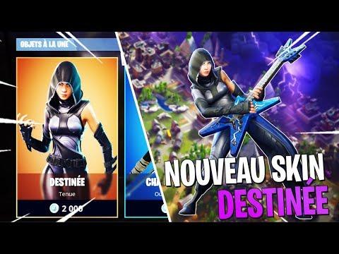 live fortnite nouveau skin legendaire destinee games abonnes pc ps4 xbox ios - premier skin legendaire fortnite