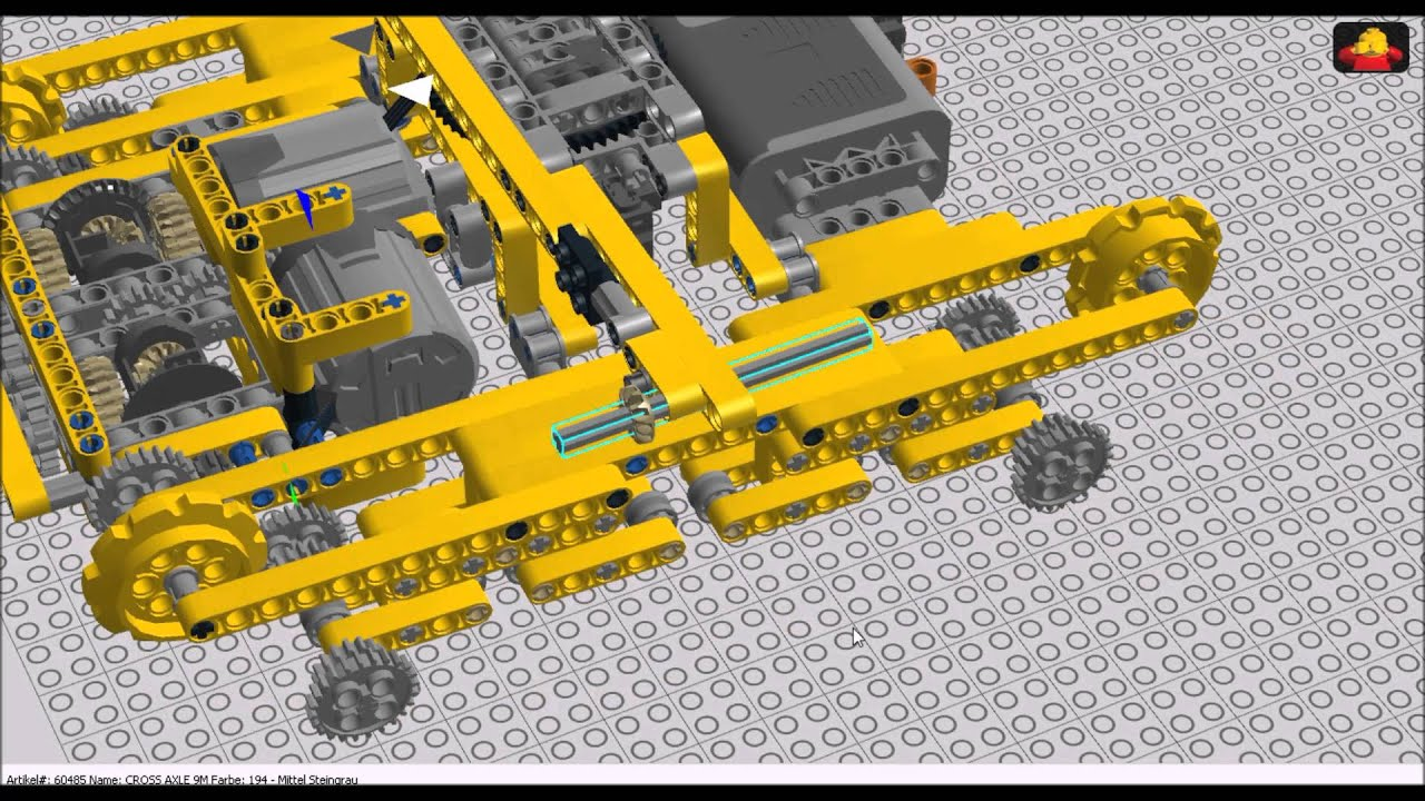Lego Technic Suspended Subtractor Tank Building Instructions Youtube