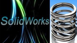 SolidWorks. Пружина сжатия. Часть I (Урок 10.1) / Уроки SolidWorks
