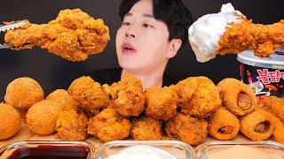 ASMR MUKBANG | 뿌링뿌링 뿌링클 치킨 치즈볼…