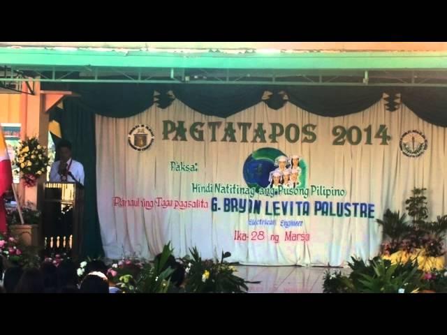 Engr Bryan Palustre bilang Panauhing Pandangal - VidInfo