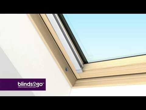 Fitting our blinds for Velux, Fakro, Rooflite & Dakstra skylight windows