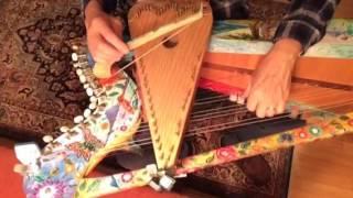 Clandestino, on Harpolin. (Half bow d Psaltery half harp)