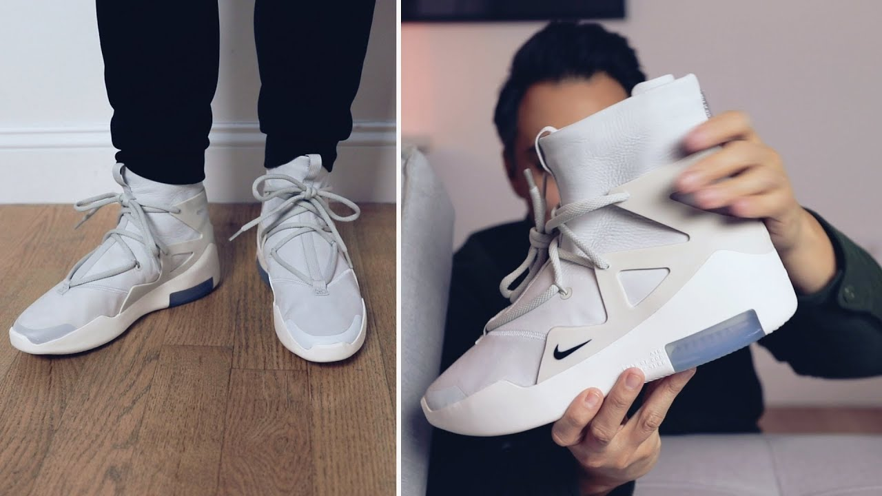 best sneakers e5328 18fe0 Nike Air FEAR OF GOD 1 (light bone)    first impressions + on feet