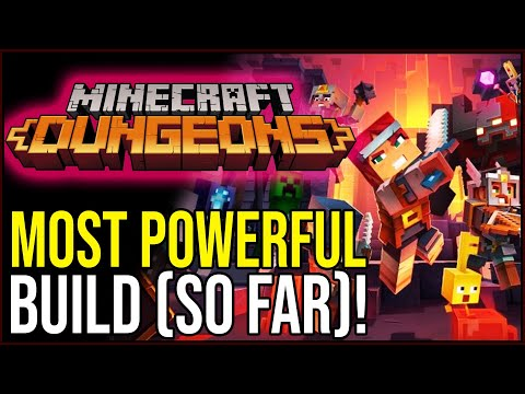 MOST POWERFUL BUILD SO FAR IN MINECRAFT DUNGEONS!