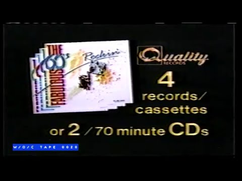 The Fabulous Sixties LP Commercial - 1986