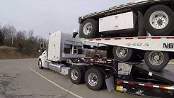 #198 Load of Trailers The Life of an Owner Operator Flatbed Truck Driver Vlog